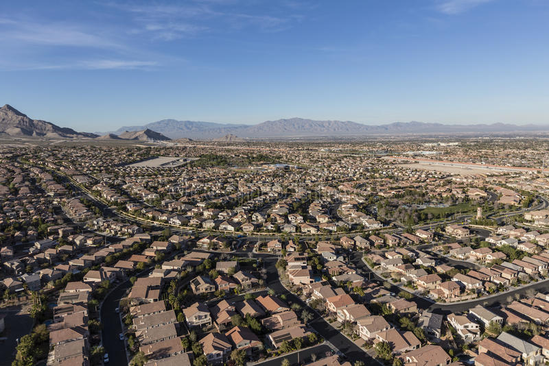 Casas do deserto de Las Vegas imagem de stock