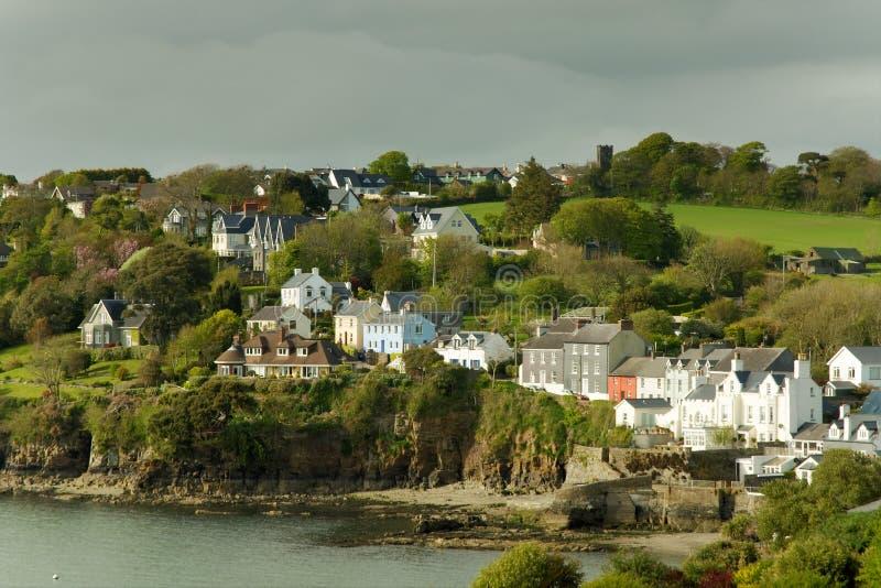 Casas do Irish do beira-mar foto de stock