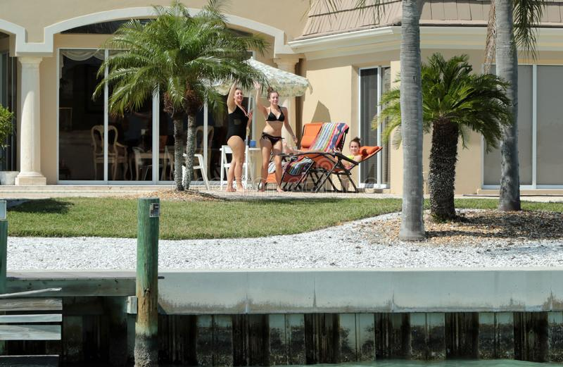 Casas do milionário, chave do pássaro, Sarasota Florida imagem de stock royalty free