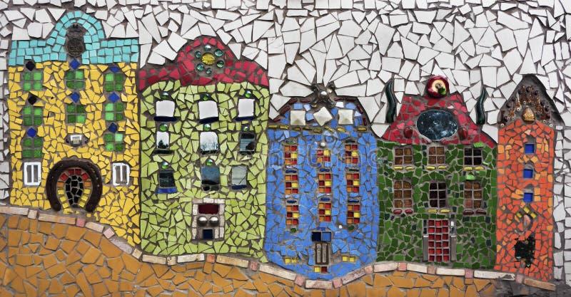 Casas do mosaico foto de stock
