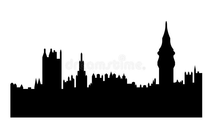 Casas do parlamento ilustração royalty free