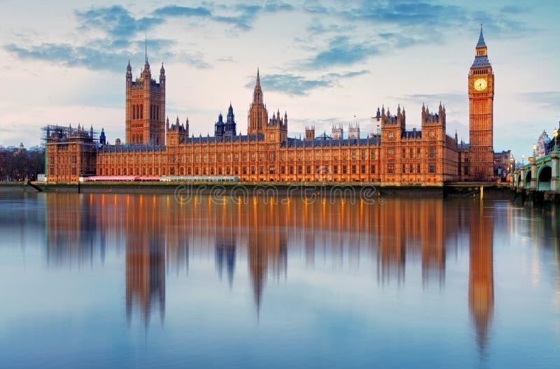 Casas do parlamento - ben grande, Inglaterra, Reino Unido fotos de stock