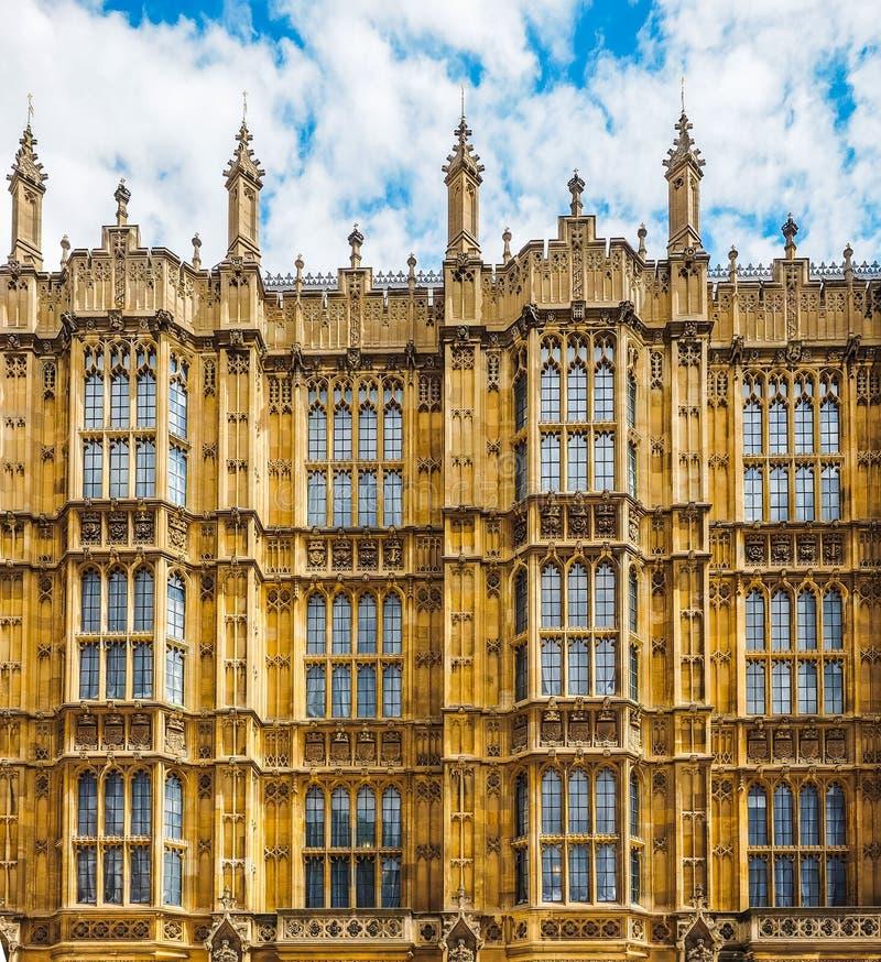 Casas do parlamento em Londres (hdr) imagens de stock royalty free
