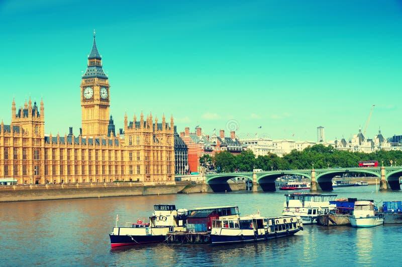 Casas do parlamento, Londres foto de stock