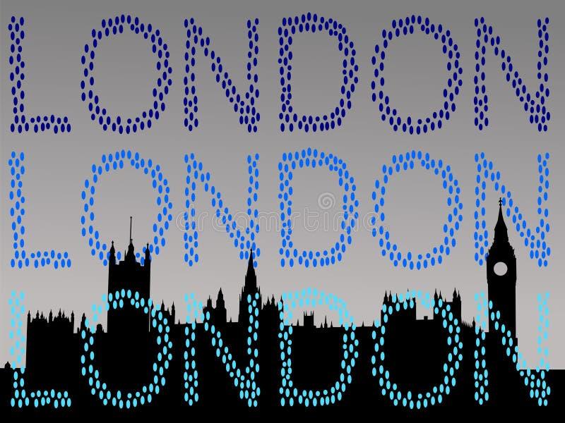 Casas do parlamento Londres ilustração royalty free