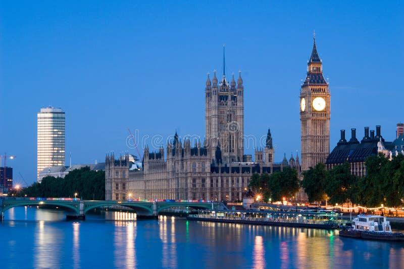 Casas do parlamento no alvorecer fotografia de stock royalty free