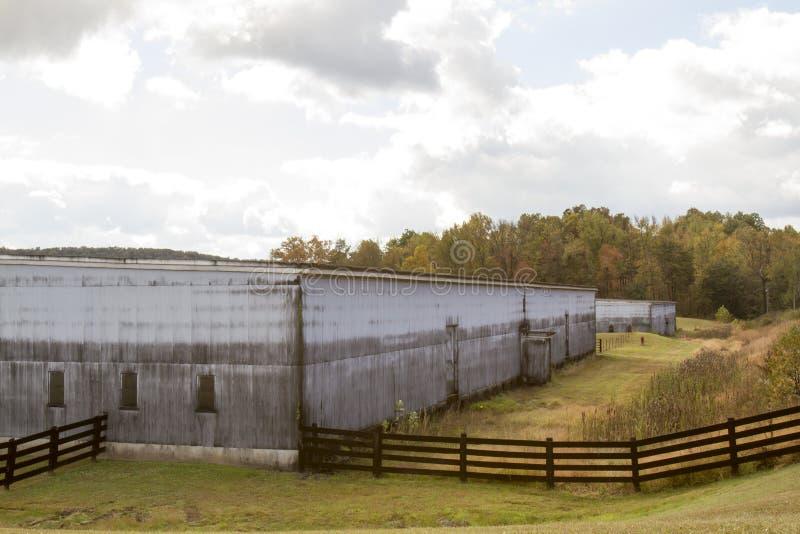 Casas do rik do bourbon de Kentucky fotos de stock