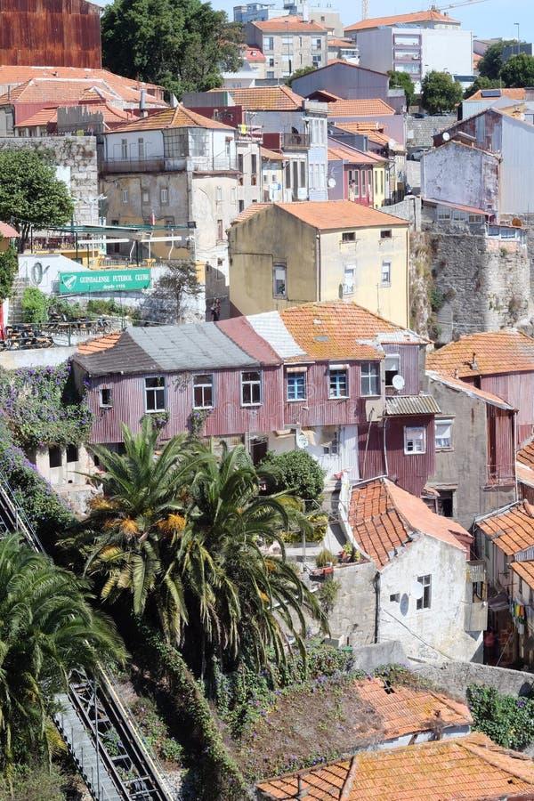 Casas do Unesco da herança de Porto imagens de stock royalty free