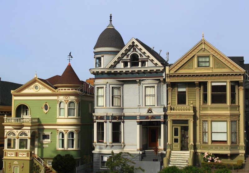 Casas do Victorian imagens de stock royalty free