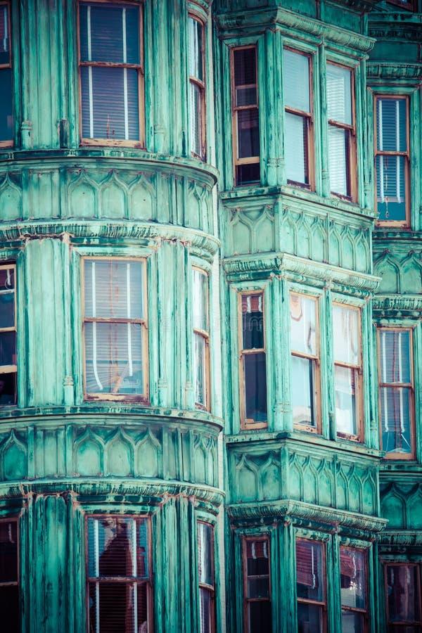 Casas do Victorian de San Francisco foto de stock