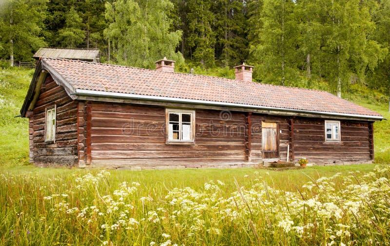 Casas e ambiente na Suécia. fotografia de stock royalty free