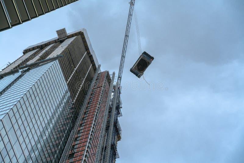 Casas e desenvolvimentos novos, local de construções residenciais moderno foto de stock royalty free