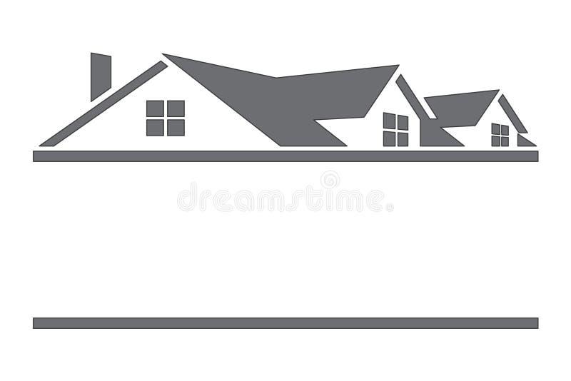 Casas e telhados ilustração stock