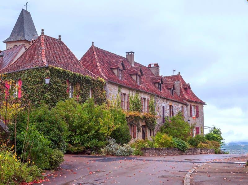 Casas em Aquitaine imagens de stock