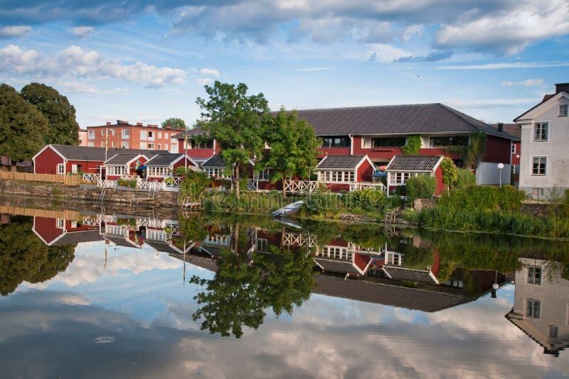 Casas em Arboga imagem de stock