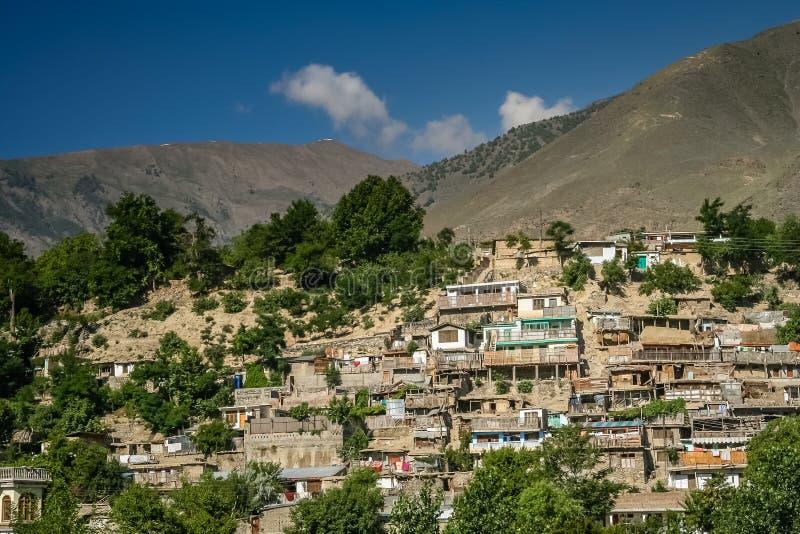 Casas em Chitral imagens de stock royalty free