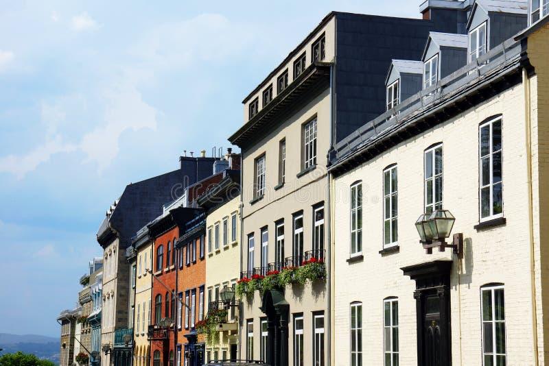 Casas em Cidade de Quebec velha fotografia de stock royalty free
