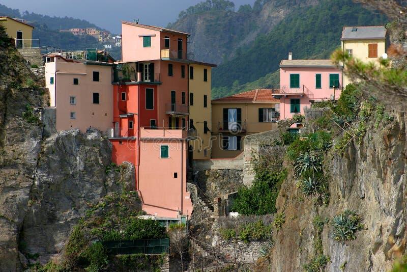 Casas em Cinque Terre imagem de stock