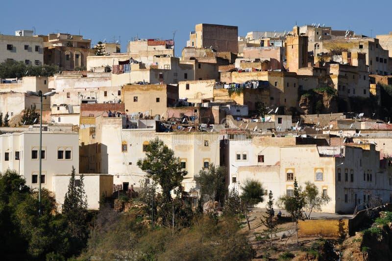 Casas em Fes, Marrocos imagens de stock