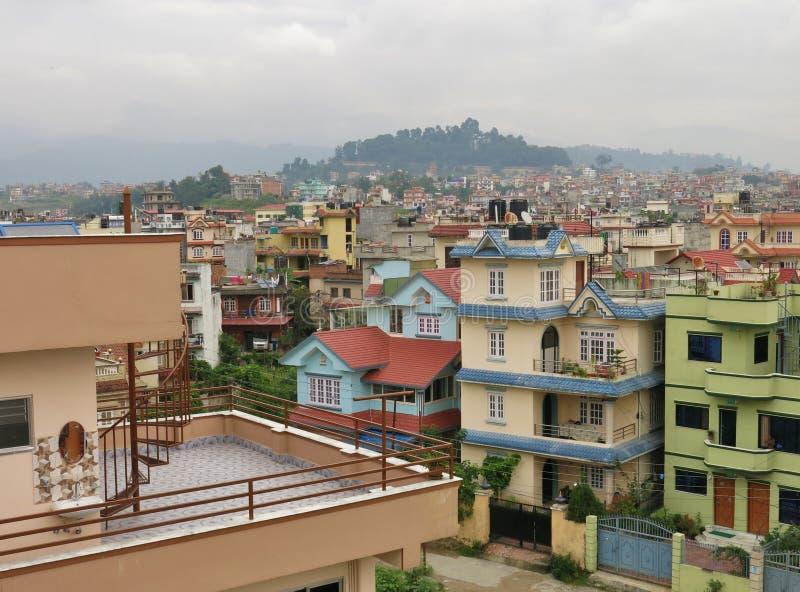 Casas em Kathmandu foto de stock royalty free