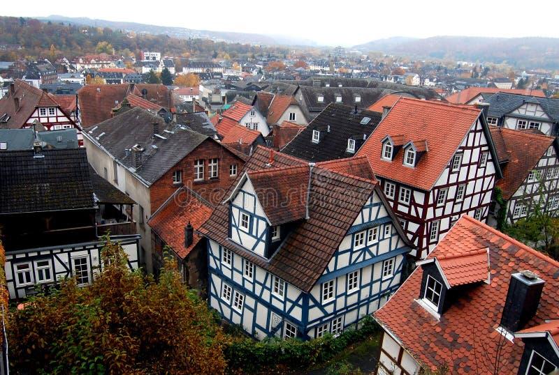 Casas em Marburg fotografia de stock royalty free