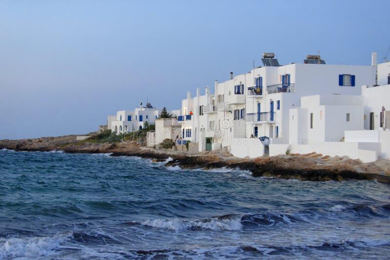 Casas em Noussa, Paros Grécia fotografia de stock