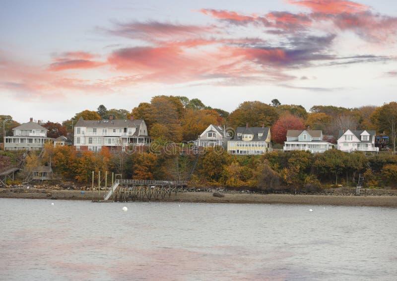 Casas em Portland Maine foto de stock