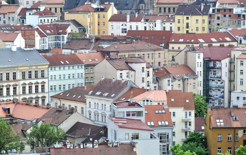 Casas em Praga fotos de stock