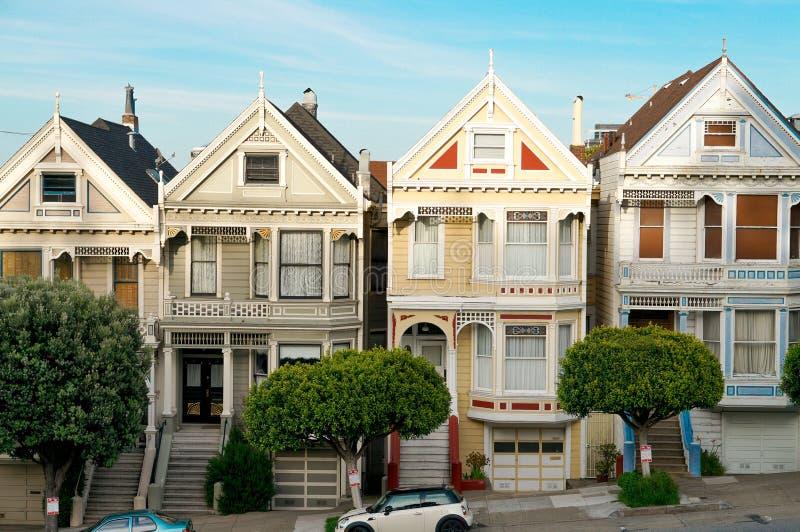 Casas em San Francisco imagens de stock royalty free