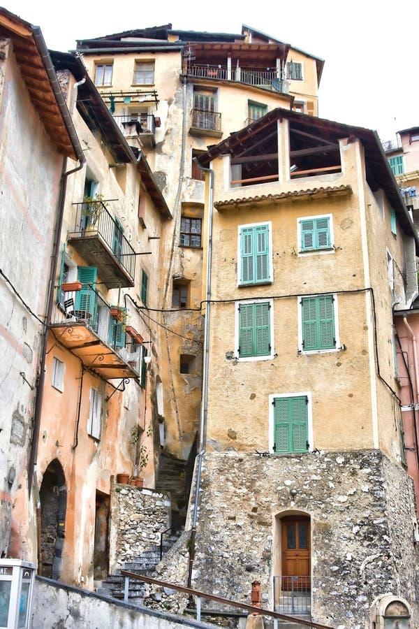 Casas em Saorge imagem de stock royalty free