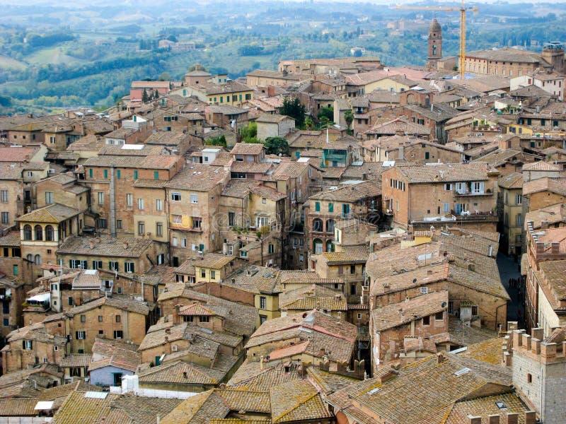 Casas em Siena, Itália fotografia de stock