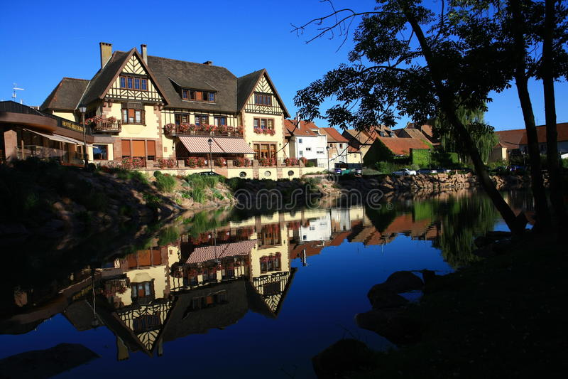 Casas en Alsacia imagen de archivo