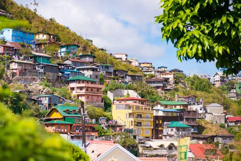 Casas en Baguio fotografía de archivo libre de regalías