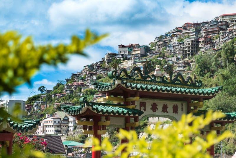 Casas en Baguio fotos de archivo