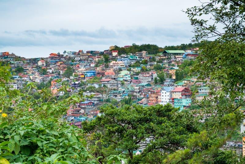Casas en Baguio fotografía de archivo