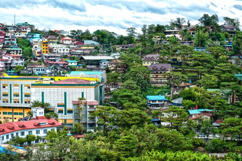 Casas en Baguio foto de archivo libre de regalías