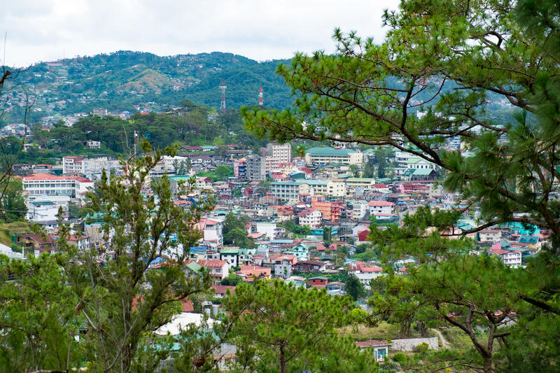 Casas en Baguio imagen de archivo