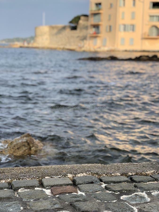 Casas en el mar fotografía de archivo