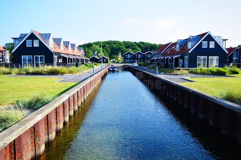 Casas en Juelsminde imagenes de archivo