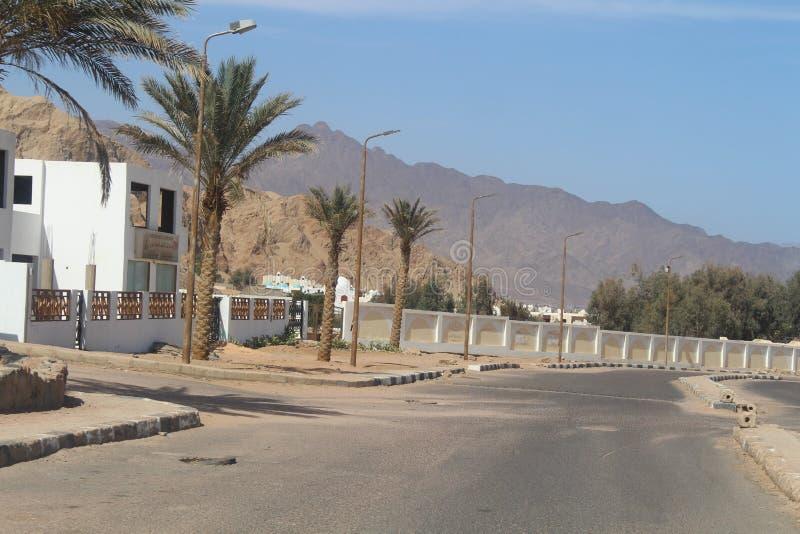 casas en la ciudad de Dahab foto de archivo