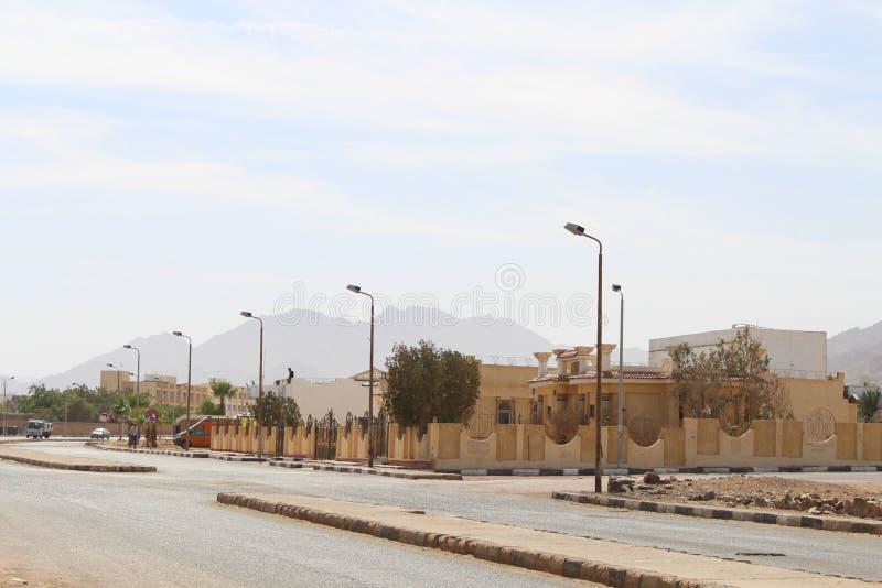 casas en la ciudad de Dahab fotos de archivo libres de regalías