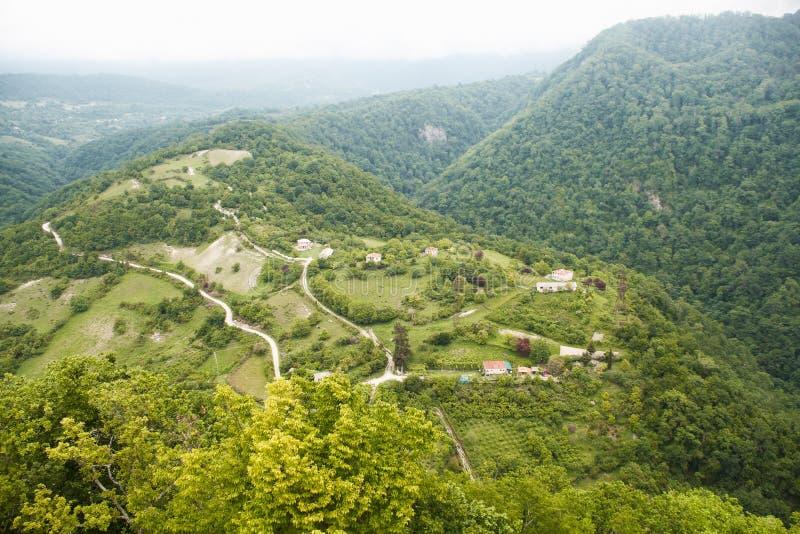 Casas en la colina foto de archivo libre de regalías