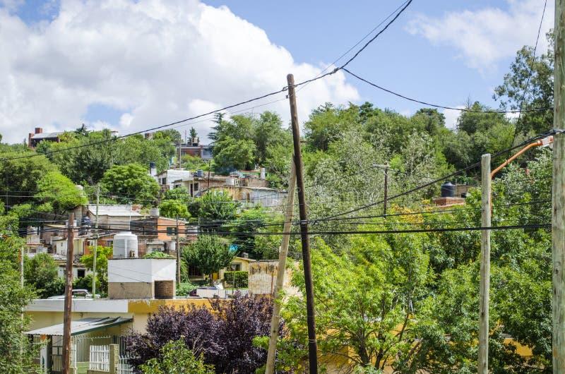 Casas en la montaña fotografía de archivo libre de regalías