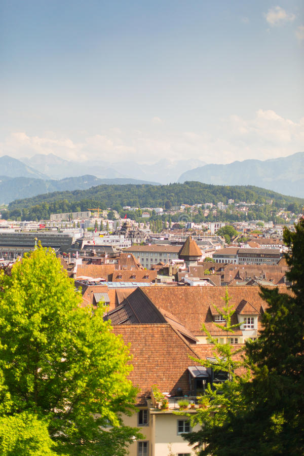 Casas en Lucerna imagen de archivo libre de regalías