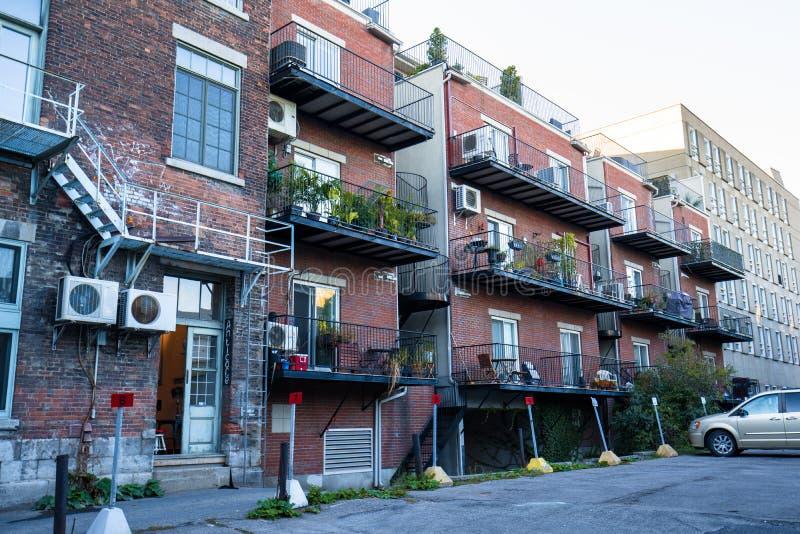 Casas en Montreal fotos de archivo