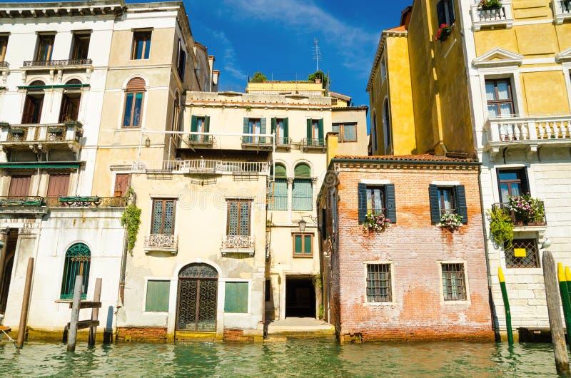 Casas en Venecia fotos de archivo
