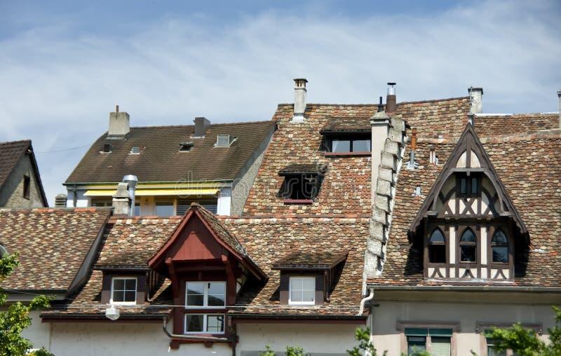 Casas européias velhas fotografia de stock