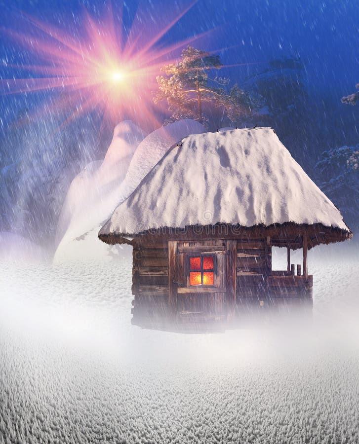 Casas feericamente polares ilustração stock