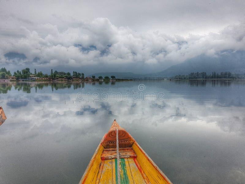 Casas flutuantes de Kashmir imagens de stock royalty free