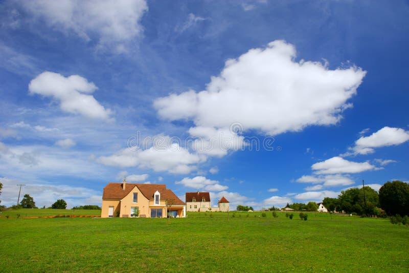 Casas francesas novas imagens de stock royalty free